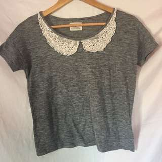 UO Grey Collar Tee