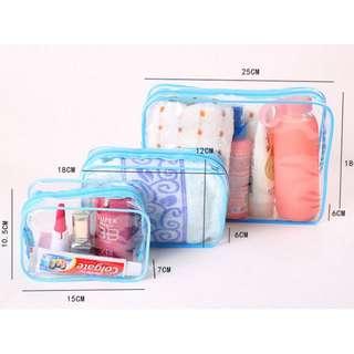 PVC Transparent waterproof Cosmetic bag   Daily Transparent Travel Makeup Case
