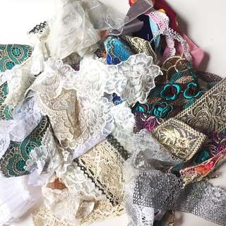 包郵 蕾絲 樣板 碎料 布碎 手作 手工 Lace