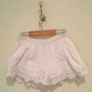 White Flared Shorts (size 8) #under20