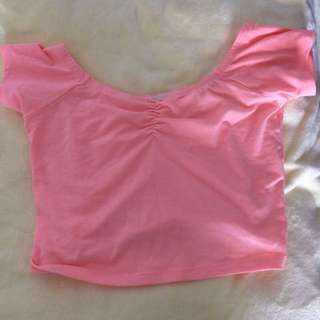 Peach Crop Top Glassons