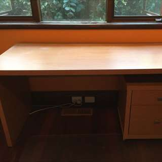 Desk, Chest Of Drawers, Mat