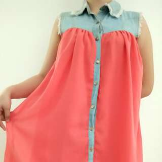 Coral Pink Junior Dress
