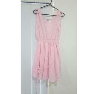Ladies Light Pink Dress
