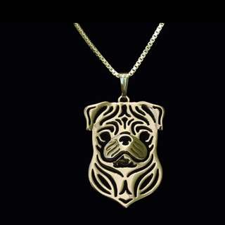 Pug Gold Plated Necklace