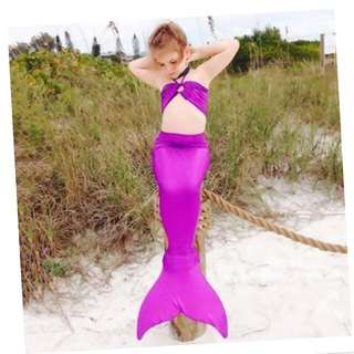 Yika 3PCS Girl Kids Mermaid Tail Swimsuit Bikini Set Costume 3-8Years (Purple) Be the first to Review This Product