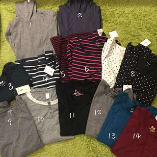 Clothes// 冬季打底衫14件,皆s號全新