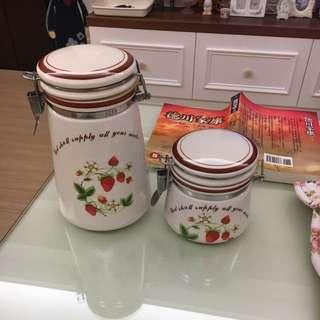 草莓陶瓷密封罐