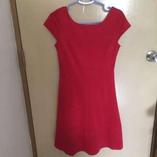 BN Red Office Dress (cny)