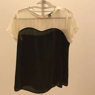 Forever 21 Black And White Top
