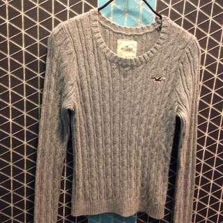 Hollister 灰色針織毛衣 M號