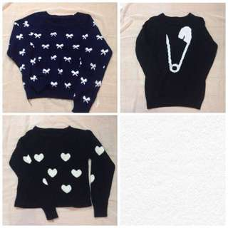 3 Sweaters 30rb