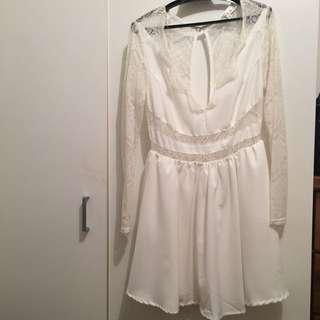 Women's White Dress, Size 10