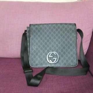 Gucci藍色PVC斜背包保證真品