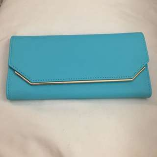 BNWT Gift Quality Collette Wallet In Aqua Blue