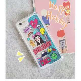 FLOATING GLITTER IPHONE CASE
