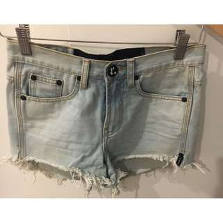 ONE TEASPOON DENIM JEANS HIGH LOW WAIST OUTLAWS SHORTS XS 6 8 24