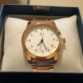 Rose Gold Arabic Numeral Watch
