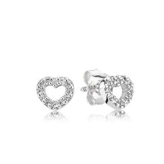Authentic Pandora Heart  Earrings
