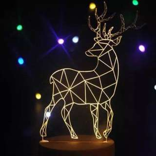 3D LED Lights Harry Potter Patronum Stag.