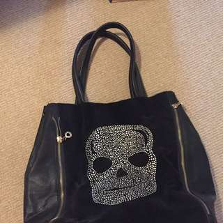 Diamanté Skull Bag