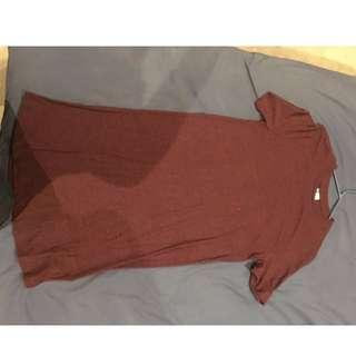 Oversized Burgandy H&M T-shirt
