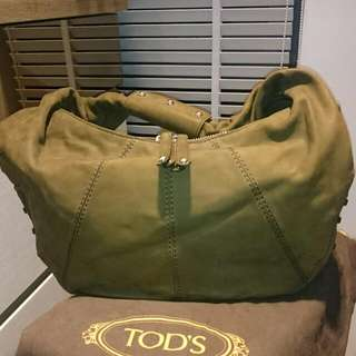 Tods Leather Green bag