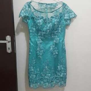 Dress Kebaya Modern Tosca