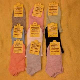 白色襪沒了 顏色9種(十雙)23cm~24cm也可十雙全黑