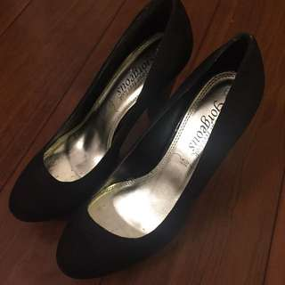 newlook black heels size 4 or 37 #marchsale