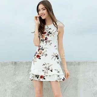 White Floral Dress: Closet Lover