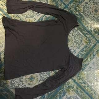 Grey Long Sleeves Shirt