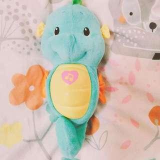 費雪,粉藍色海馬寶寶音樂玩偶
