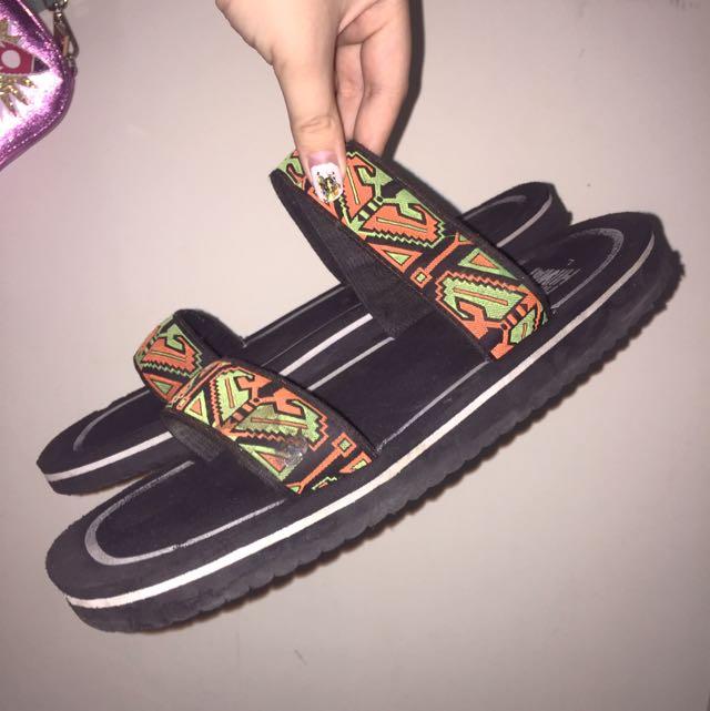 復古圖騰拖鞋