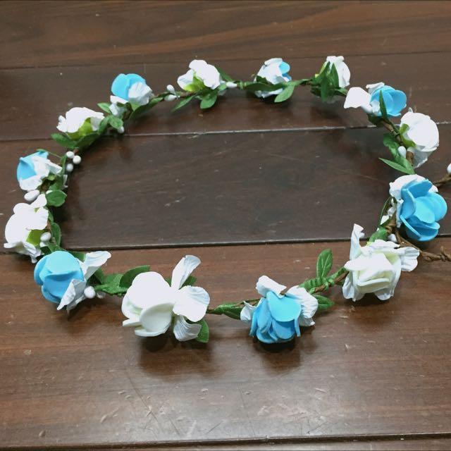 白藍簡單花圈