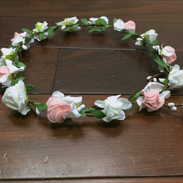 白粉簡單花圈