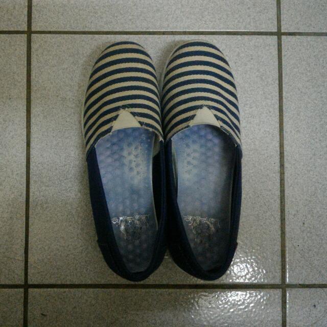 藍白條紋增高鞋