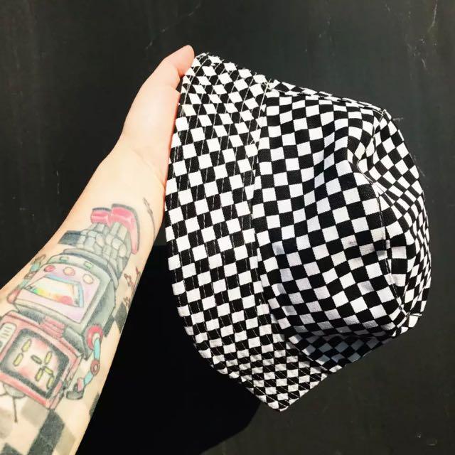 棋盤格漁夫帽