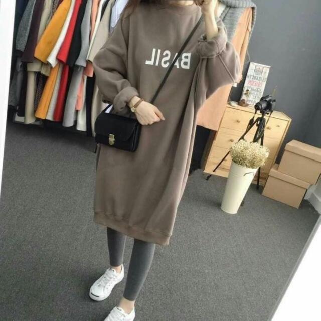 韓版內刷毛寬鬆百搭連身裙