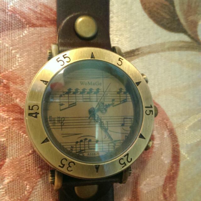 復古風 五線譜手錶