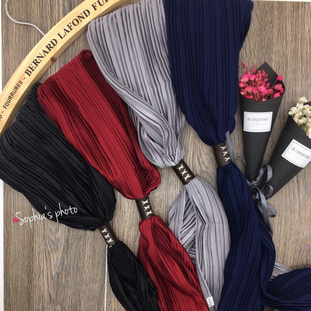 素描細條 韓版絲巾