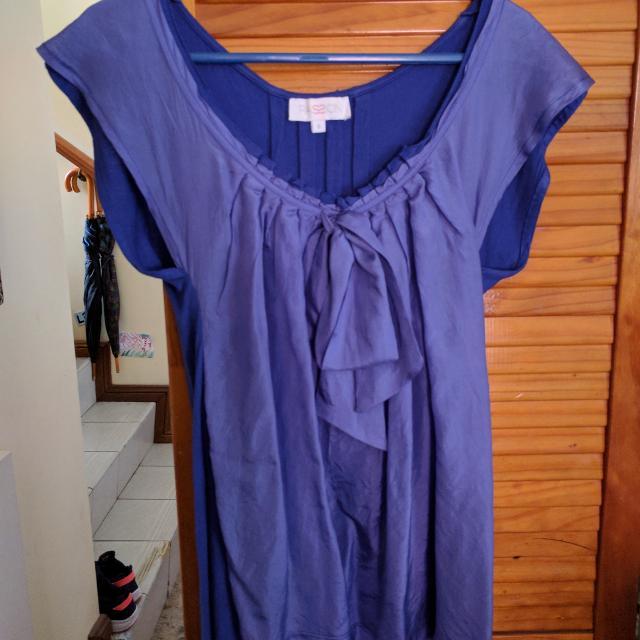 🙊 Blue Silk-Rayon Summer Top