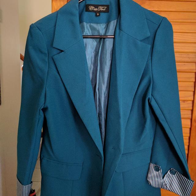 🆕 Dark Blue-Green Blazer Jacket NEVER WORN
