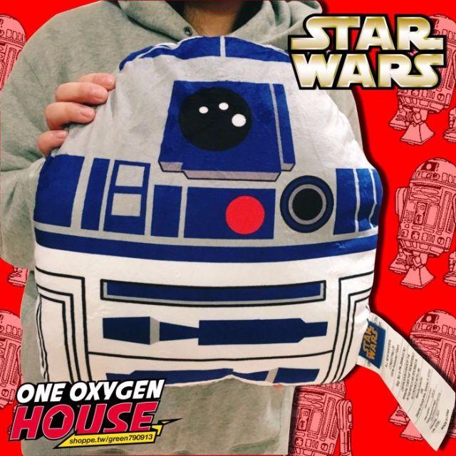 美版 STAR WARS 星際大戰 R2D2 抱枕 靠枕 娃娃 枕頭 黑武士 白兵 玩具