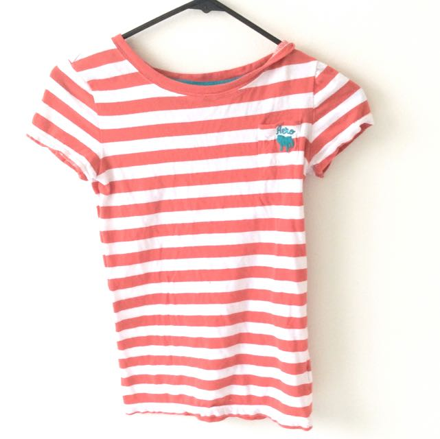 Aeropostale Peach Striped Shirt