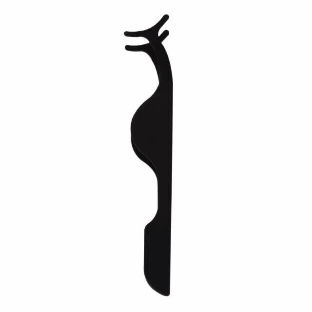 ALAT PASANG BULU MATA STAINLESS STEEL / EYELASH CLIPPER - BLACK / HIT