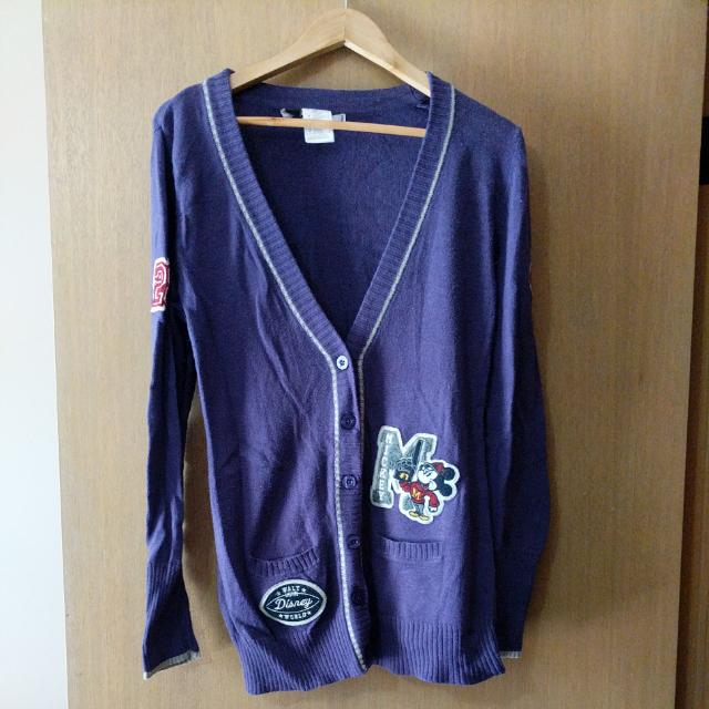 Authentic Disney World Baseball-style Cardigan