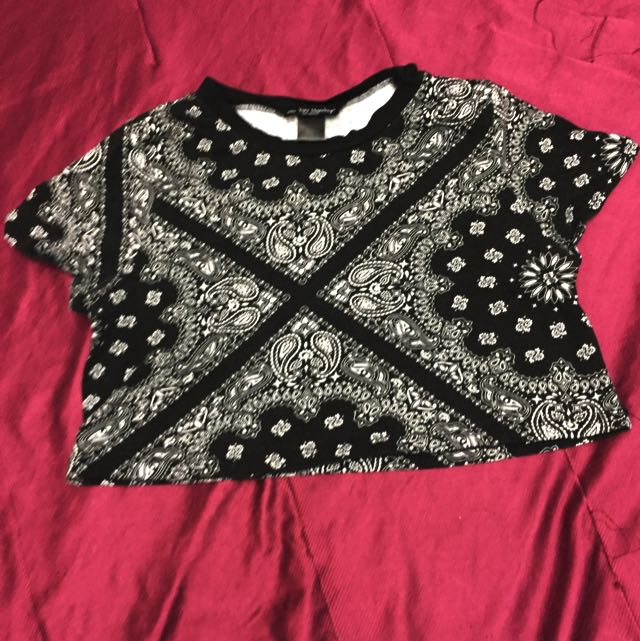 Bandana Print Crop Top