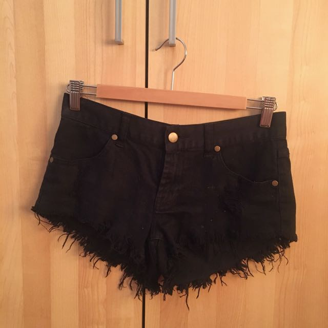 Black Valley Girl Denim Shorts