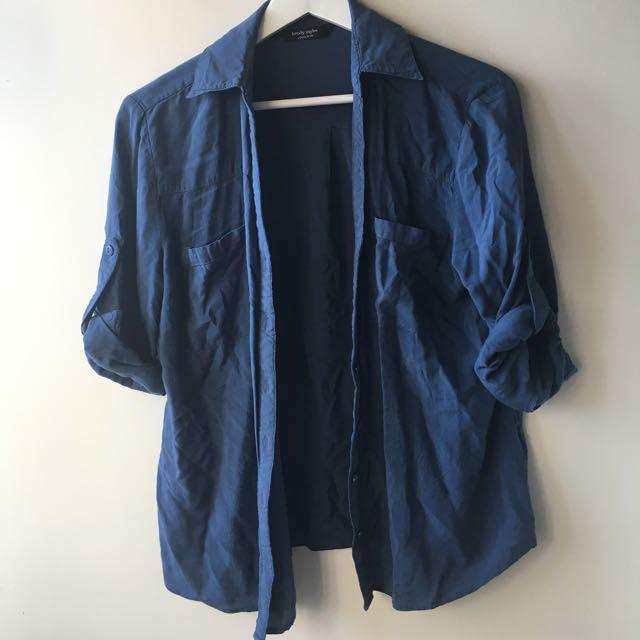 Blue Button Up